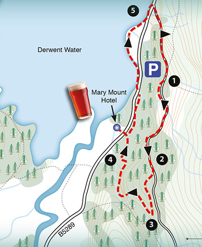 sample map of a walk around Mary Mount Hotel